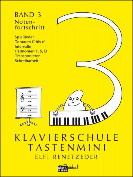 Klavierschule Tastenmini Band 3 Notenfortschritt