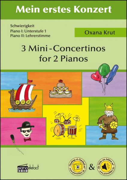 3 Mini-Concertinos for 2 Pianos