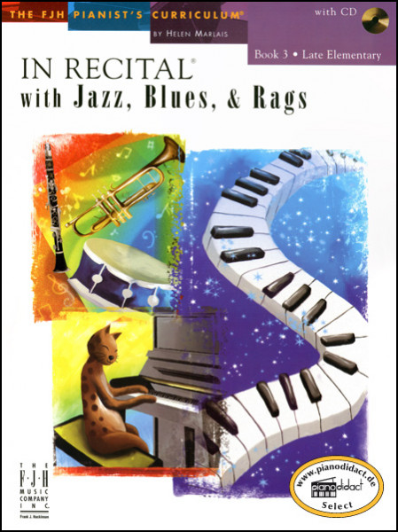 In Recital with Jazz, Blues & Rags, Book 3