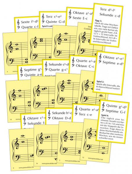 Notenkarten Nr. 5 - Intervalle Grobbestimmung
